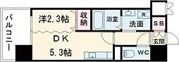デザイナーズ  ザ・レトロ 12階1DKの間取り