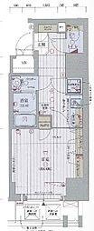 Osaka Metro谷町線 中崎町駅 徒歩8分の賃貸マンション 4階1Kの間取り