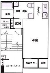 阪神本線 春日野道駅 徒歩2分の賃貸マンション 1階ワンルームの間取り