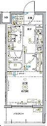 東武東上線 北池袋駅 徒歩14分の賃貸マンション 8階1Kの間取り