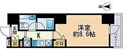 セレニティコート渋谷神泉 10階1Kの間取り