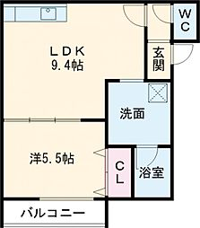 Urban Place 2nd 1階1LDKの間取り