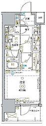 東武東上線 北池袋駅 徒歩14分の賃貸マンション 9階1Kの間取り