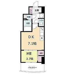 セレニテ桜川駅前プリエ 13階1DKの間取り
