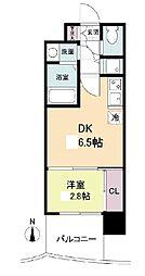 セレニテ日本橋プリエ 11階1DKの間取り