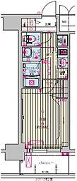 プレサンス天王寺ノースヴィアーレ 10階1Kの間取り