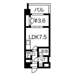 阪急神戸本線 王子公園駅 徒歩9分の賃貸マンション 3階1LDKの間取り