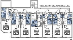 東急東横線 祐天寺駅 徒歩7分の賃貸マンション 4階1Kの間取り