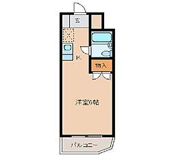 メゾン・ド・リテレール 1階ワンルームの間取り