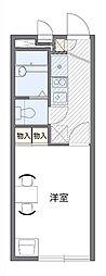 JR片町線(学研都市線) 長尾駅 徒歩12分の賃貸アパート 1階1Kの間取り