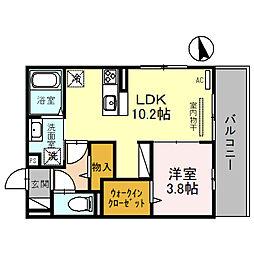 阪急宝塚本線 石橋阪大前駅 徒歩12分の賃貸アパート 3階1LDKの間取り