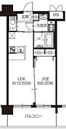 阪急宝塚本線 豊中駅 徒歩7分の賃貸マンション 3階1LDKの間取り
