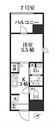 福岡市地下鉄七隈線 別府駅 徒歩16分の賃貸マンション 4階1Kの間取り