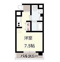 OrientCity・M 10階ワンルームの間取り
