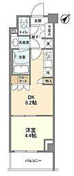 JR京浜東北・根岸線 大井町駅 徒歩9分の賃貸マンション 1階1DKの間取り