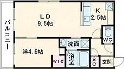 BELLEFINE Takadai 4階1LDKの間取り