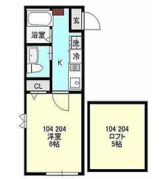 京急本線 県立大学駅 徒歩5分の賃貸アパート 1階1Kの間取り