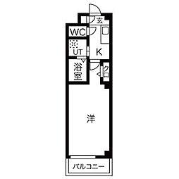 名鉄犬山線 徳重・名古屋芸大駅 徒歩25分の賃貸マンション 1階1Kの間取り