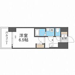 JR大阪環状線 大正駅 徒歩10分の賃貸マンション 10階1Kの間取り