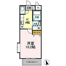 仙台市営南北線 仙台駅 バス29分 八幡三丁目下車 徒歩2分の賃貸マンション 3階1Kの間取り