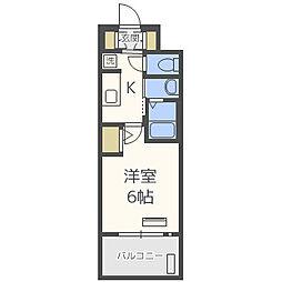 Osaka Metro千日前線 阿波座駅 徒歩9分の賃貸マンション 11階1Kの間取り