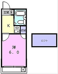 南海加太線 八幡前駅 徒歩17分の賃貸アパート 2階1Kの間取り