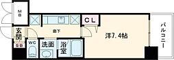 JR東海道・山陽本線 尼崎駅 徒歩1分の賃貸マンション 7階1Kの間取り