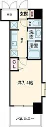 JR東海道・山陽本線 尼崎駅 徒歩1分の賃貸マンション 8階1Kの間取り