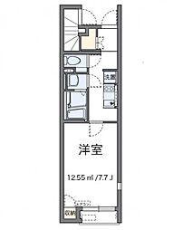 レオネクストTAKAO32 1階1Kの間取り