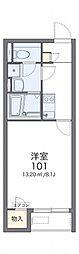 レオネクストサンフラワー上新地 1階1Kの間取り