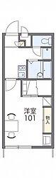 JR常磐線 水戸駅 バス15分 城東4丁目下車 徒歩4分の賃貸アパート 1階1Kの間取り