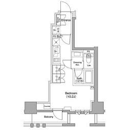 東急東横線 都立大学駅 徒歩11分の賃貸マンション 4階1Kの間取り
