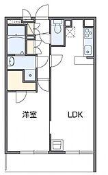 レオパレストライズ 3階1LDKの間取り