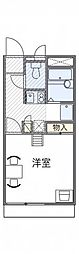 神鉄有馬線 北鈴蘭台駅 徒歩16分の賃貸アパート 2階1Kの間取り