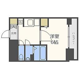 Osaka Metro谷町線 天満橋駅 徒歩8分の賃貸マンション 14階1Kの間取り