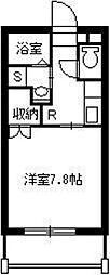 葉月館III 5階1Kの間取り