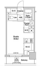 JR山手線 大塚駅 徒歩7分の賃貸マンション 4階ワンルームの間取り