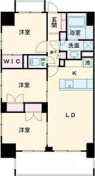 JR山手線 新宿駅 徒歩16分の賃貸マンション 9階3LDKの間取り