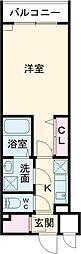 ルネサンスコート新宿余丁町 2階1Kの間取り
