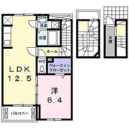 ベル フローラル 3階1LDKの間取り