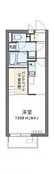 水島臨海鉄道 倉敷市駅 徒歩17分の賃貸アパート 2階ワンルームの間取り