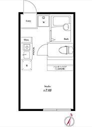 JR山手線 池袋駅 徒歩14分の賃貸アパート 1階ワンルームの間取り