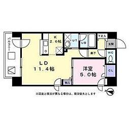 札幌市営東西線 バスセンター前駅 徒歩9分の賃貸マンション 3階1LDKの間取り