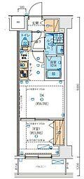 JR京浜東北・根岸線 西川口駅 徒歩5分の賃貸マンション 7階1DKの間取り