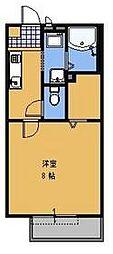 JR常磐線 水戸駅 徒歩15分の賃貸アパート 1階1Kの間取り