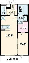 仮称)南区久世中久世5丁目 共同住宅A 2階1LDKの間取り