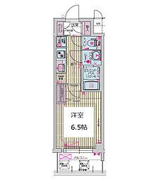 プレサンス谷町九丁目ディセオ 4階1Kの間取り