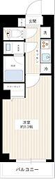 JR中央線 西荻窪駅 徒歩5分の賃貸マンション 2階1Kの間取り