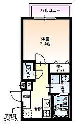 JR阪和線 和歌山駅 徒歩10分の賃貸アパート 2階1Kの間取り