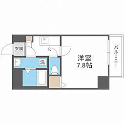 Osaka Metro御堂筋線 中津駅 徒歩13分の賃貸マンション 5階1Kの間取り